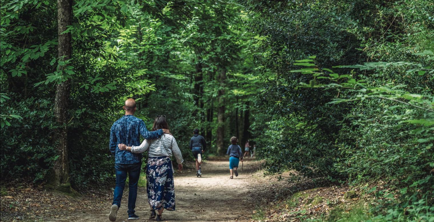 Bois de Pledran - Promenade en famille