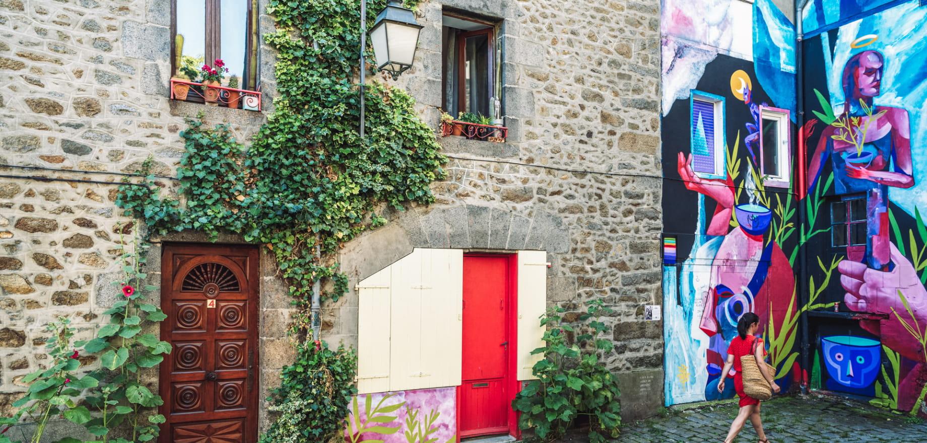 Place au lin a Saint-Brieuc - Street art