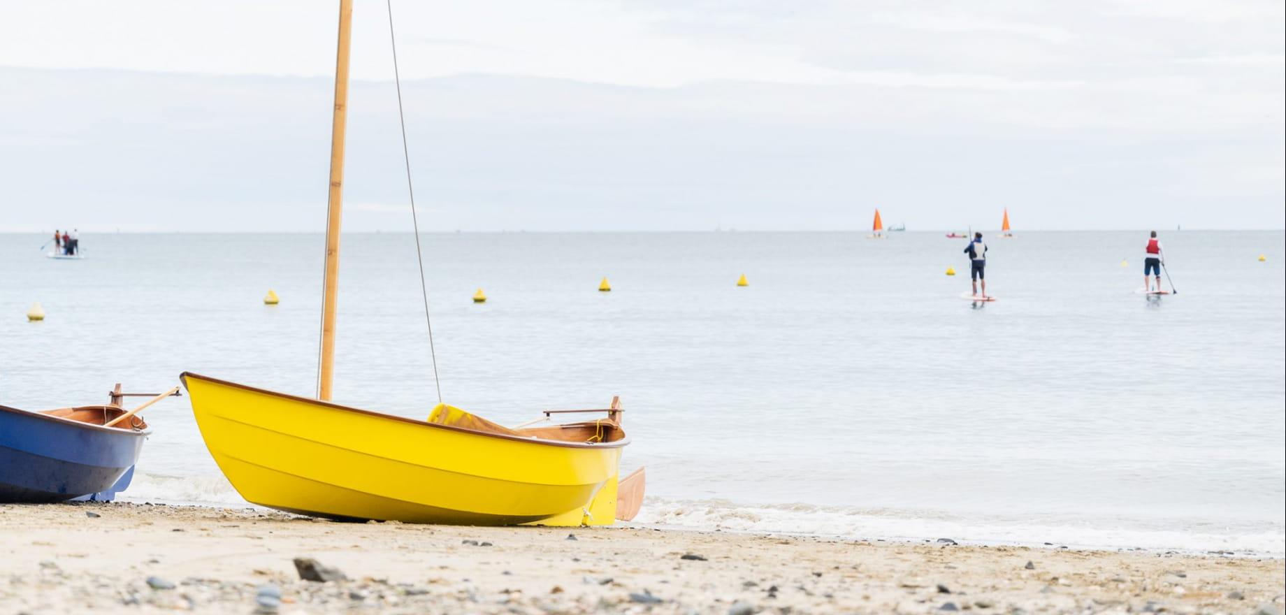 Bateau - Zoom - Paddle - Martin plage, Plerin