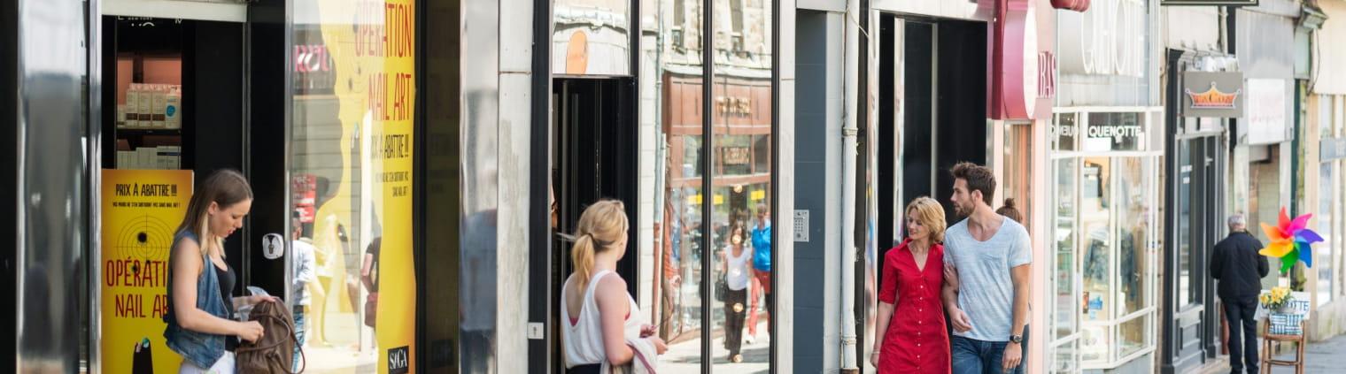 « Reportage Baie de Saint-Brieuc » le centre ville shopping saint-brieuc boutiques