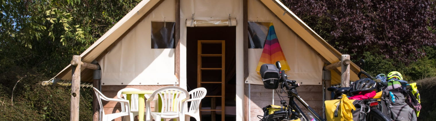 Camping tente vélo