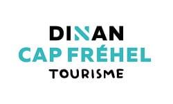 Logo Dinan Cap Fréhel Tourisme - noir et bleu
