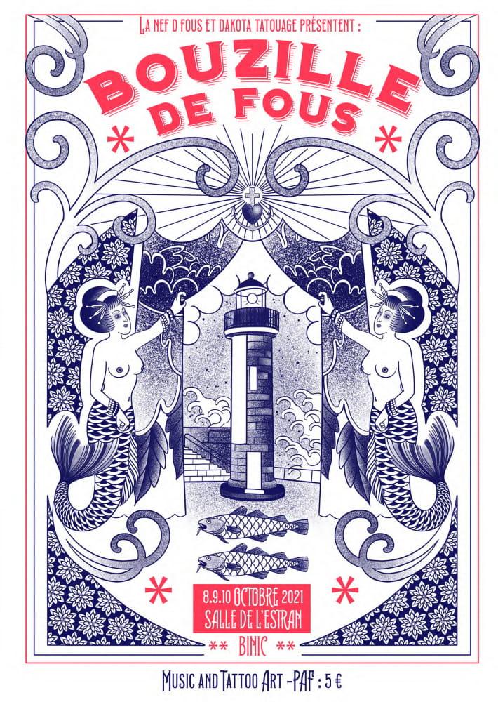 Affiche_ bouzille de fous original flyer