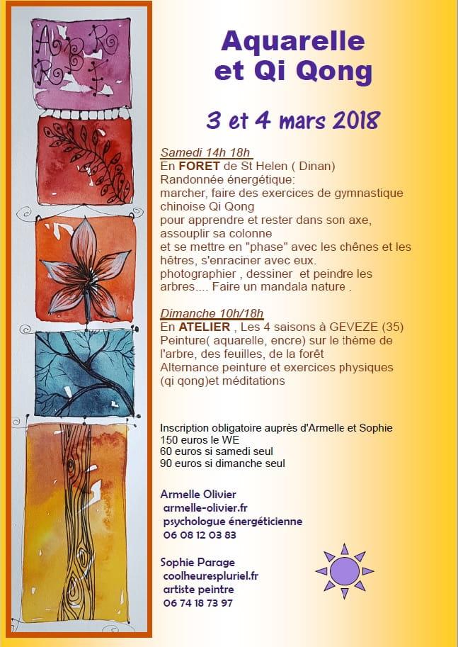 Aquarelle et Qi Quong St Helen 3-4 mars
