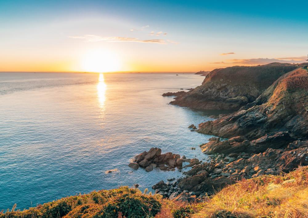 Pointe bec de Vir Tréveneuc, lever du soleil