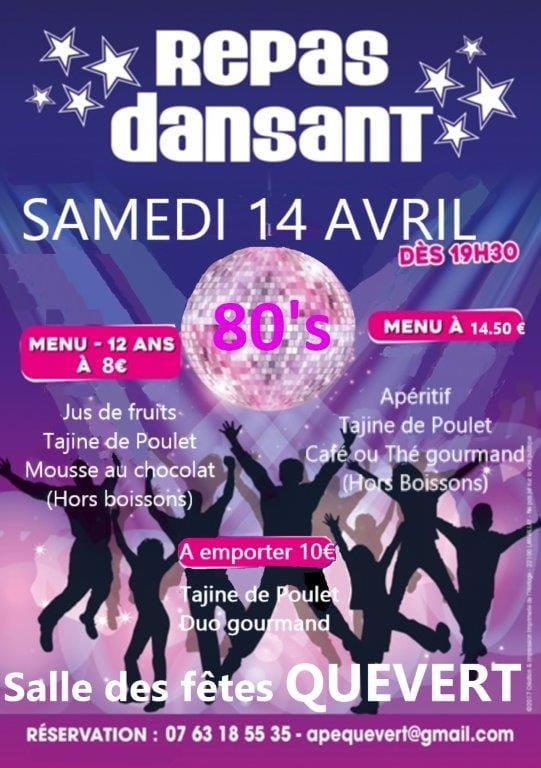 Affiche Repas Dansant 14 avril Quévert