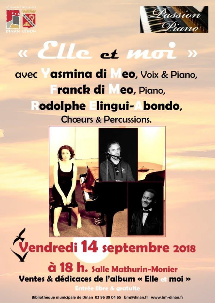Concert passion piano Elle et Moi Yasmina Di Meo 14 septembre