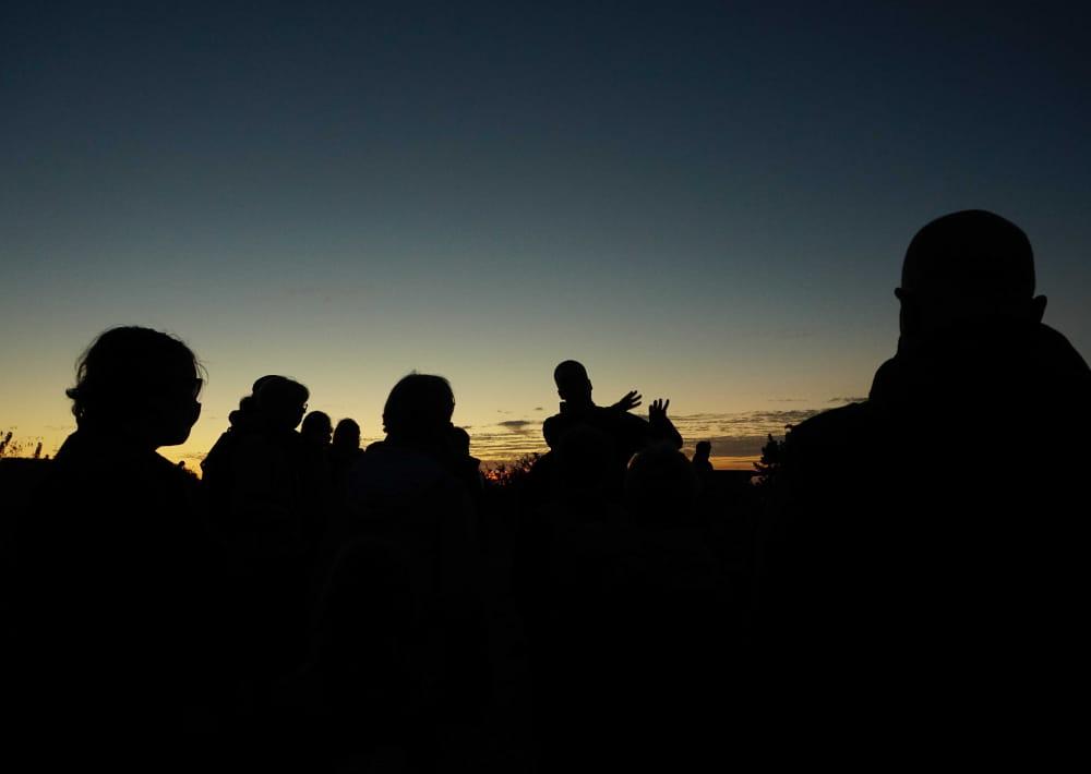 Sortie crépuscule photo illustration