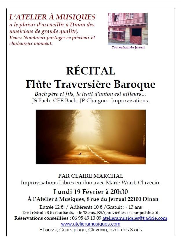 Récital flûte traversière 19 février DINAN