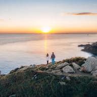 Pointe bec de Vir Tréveneuc, lever du soleil, couple